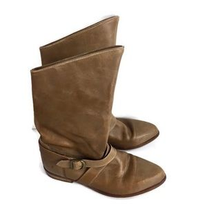 Frye Vintage Heeled Tan Riding Boots Size 7 1/2
